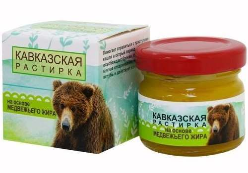 Растирка на основе медвежьего жира